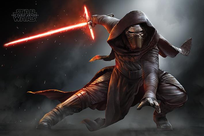 Star Wars Episode VII: Kylo Ren Crouch Landscape Poster