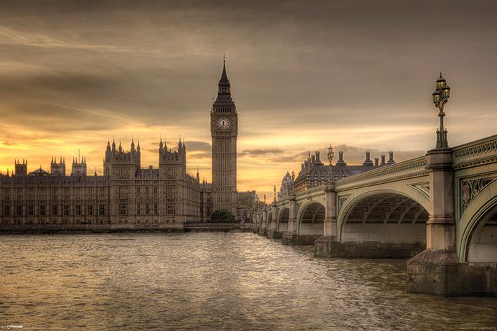 Rod Edwards: Autumn Skies, London, England Landscape Poster