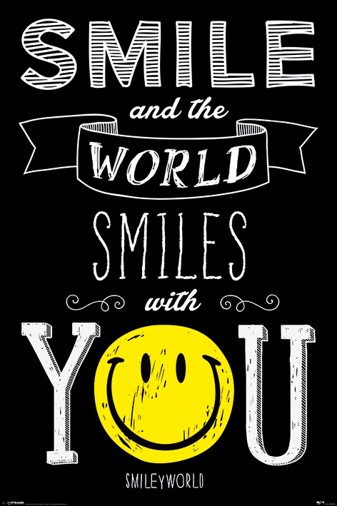 Smiley: World Smiles WIth You Portrait Poster