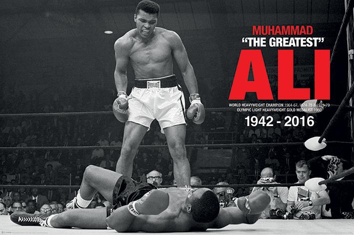 Muhammad Ali Commemorative: Ali v Liston Landscape Poster