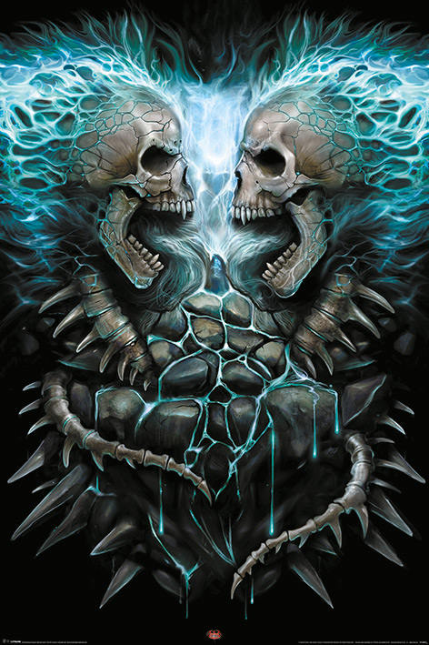 Spiral: Flaming Spine Portrait Poster