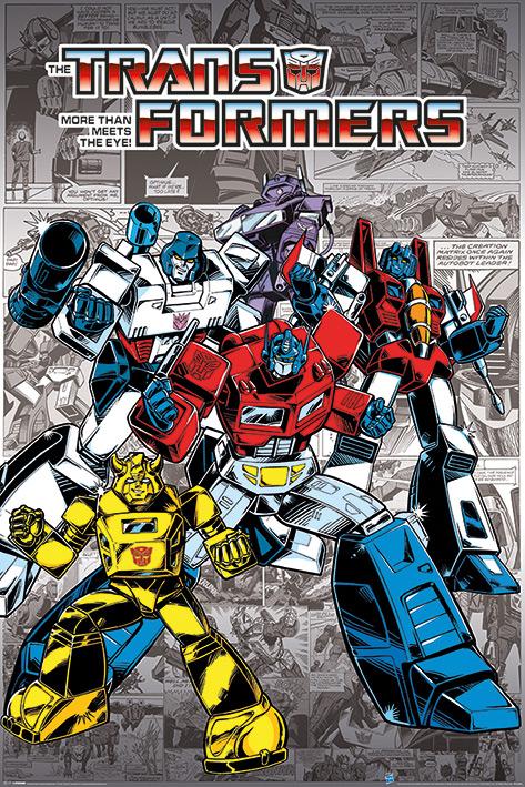 Transformers G1: Retro Comics Portrait Poster