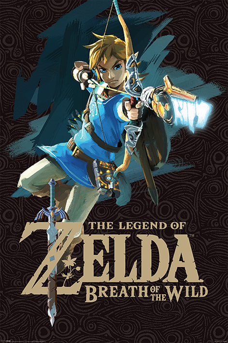 The Legend of Zelda: Breath Of The Wild: Game Cover Portrait Poster