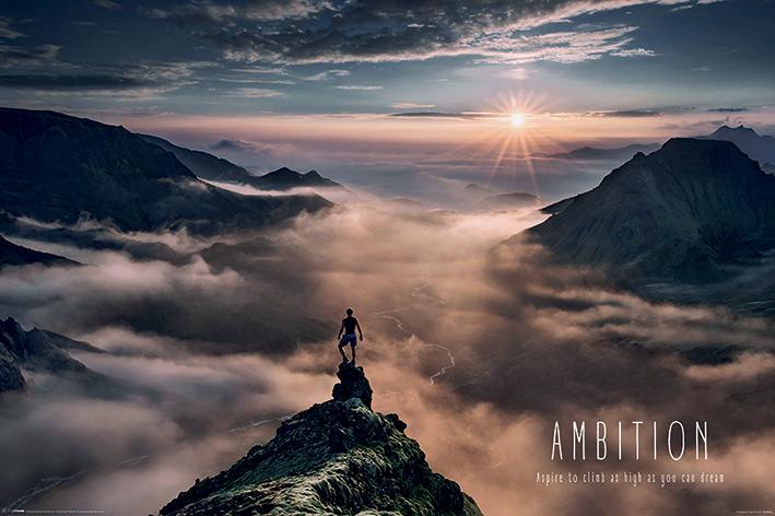 Ambition Landscape Poster