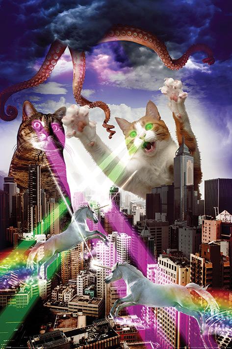 Apocalypse Meow Portrait Poster