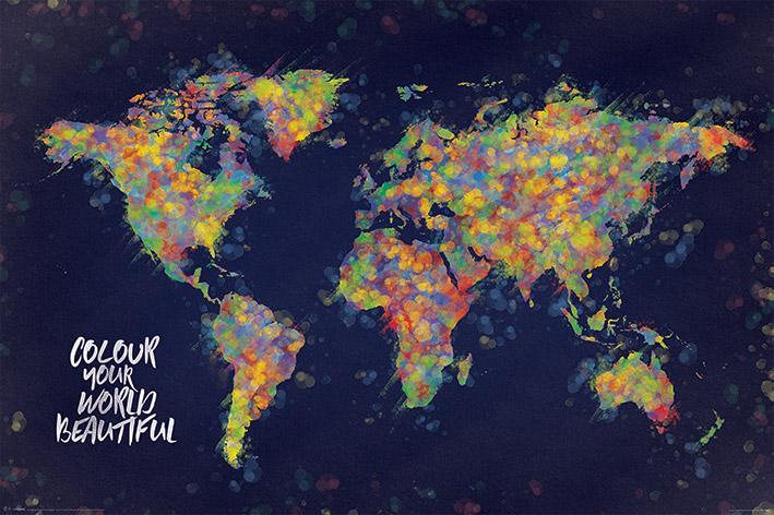 Colour Your World Beautiful Landscape Poster