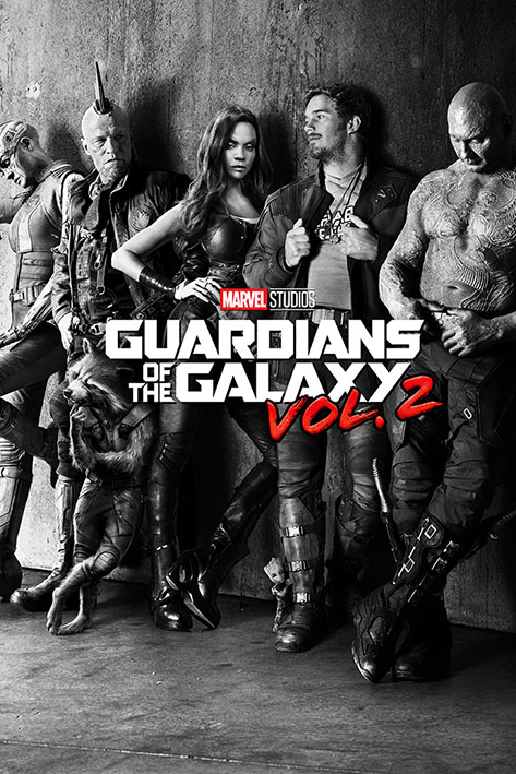 Guardians of the Galaxy Vol. 2: Black & White Teaser Portrait Poster