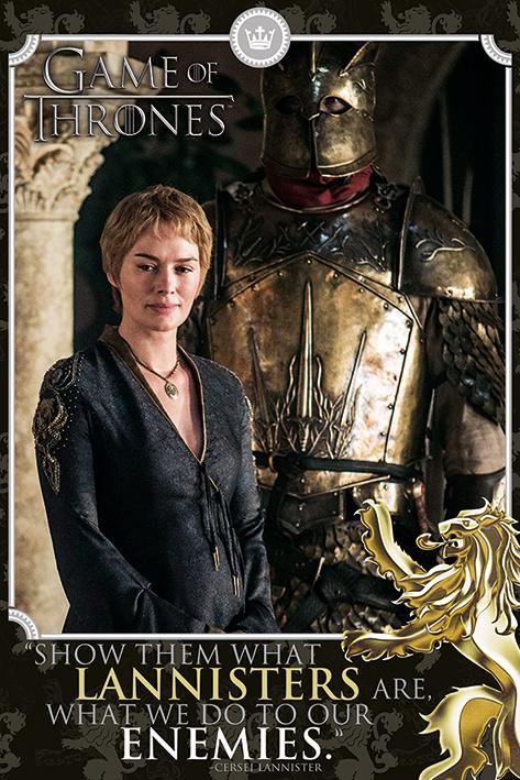 Game of Thrones: Cersei - Enemies Portrait Poster