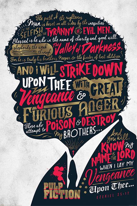Pulp Fiction: Ezekiel 25:17 Portrait Poster
