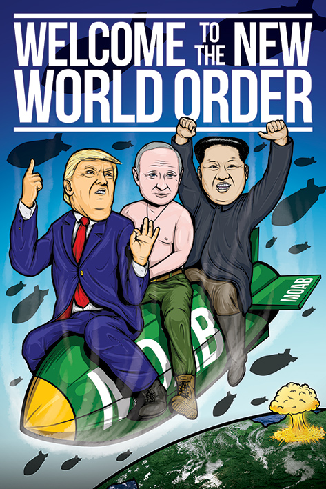 Welcome To The New World Order Portrait Poster