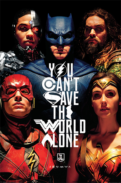 Justice League Movie: Save The World Portrait Poster