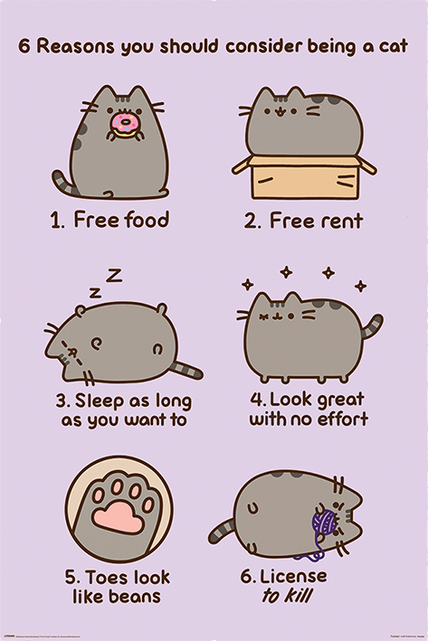 Pusheen: Reasons to be a Cat Portrait Poster