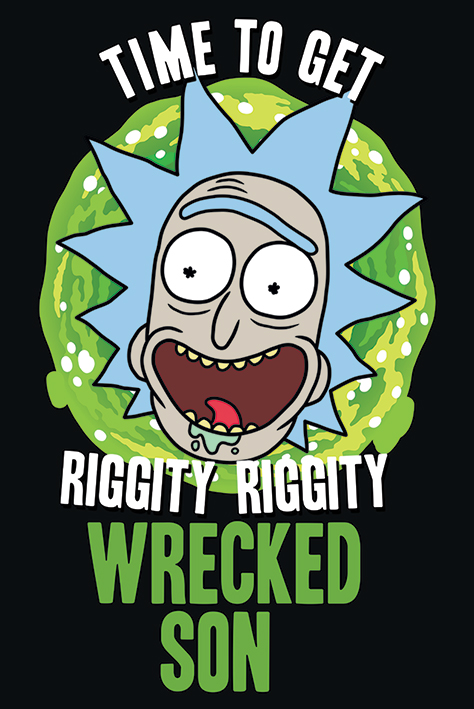 Rick and Morty: Wrecked Son Portrait Poster