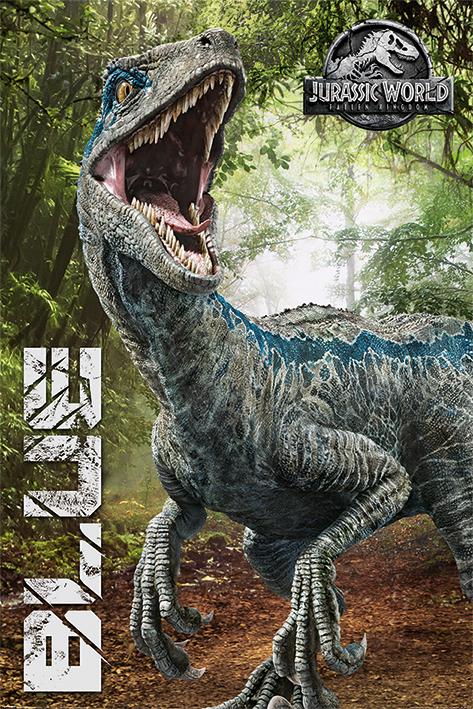 Jurassic World Fallen Kingdom: Blue Portrait Poster
