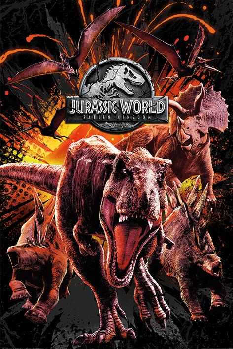 Jurassic World Fallen Kingdom: Montage Portrait Poster