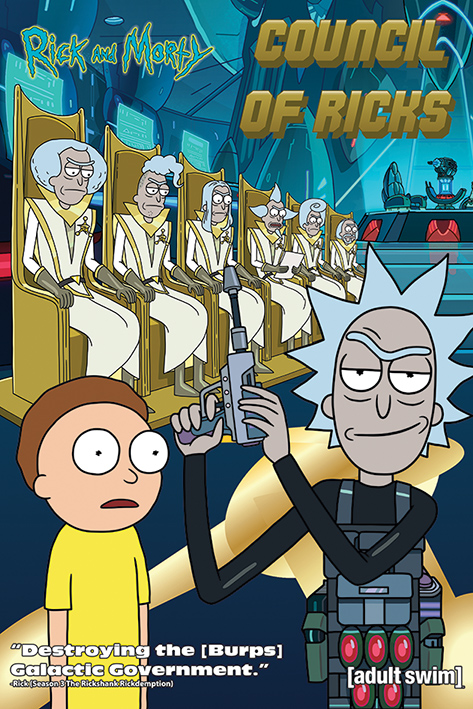 Rick and Morty: Council Of Ricks Portrait Poster