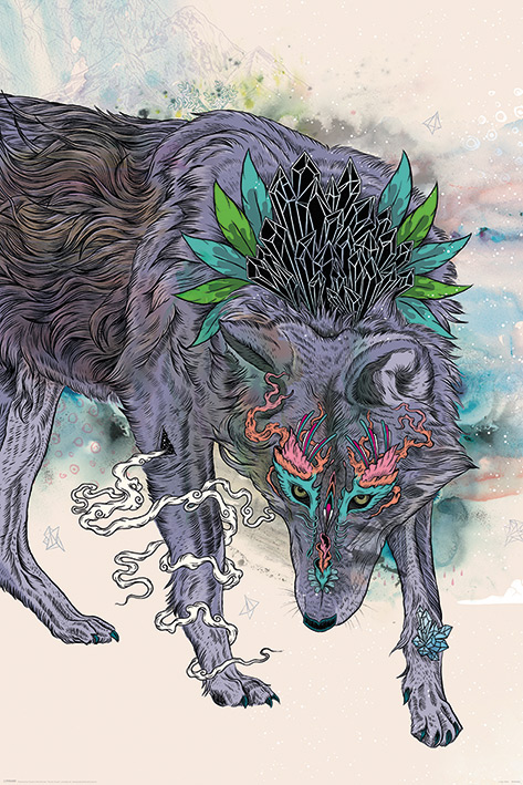Mat Miller: Journeying Spirit - Wolf Portrait Poster