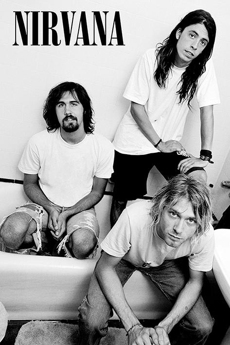 Nirvana: Bathroom Portrait Poster