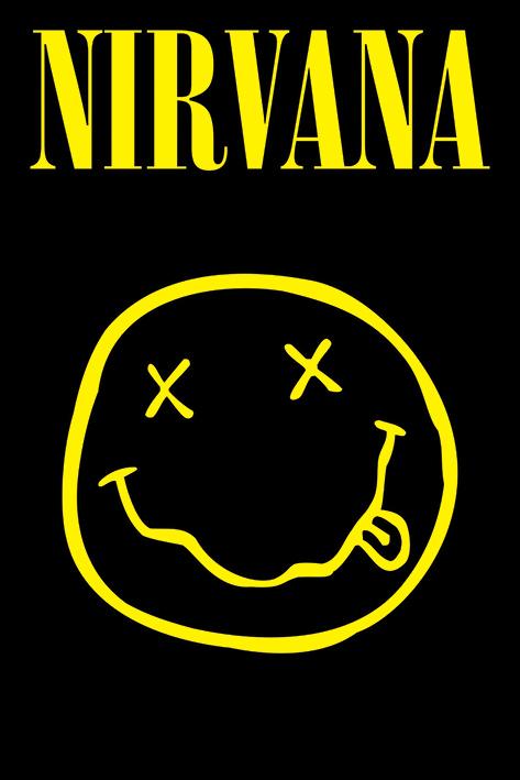 Nirvana: Smiley Portrait Poster