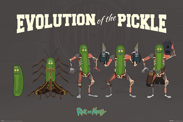 Rick and Morty: Evolution Of The Pickle Landscape Poster
