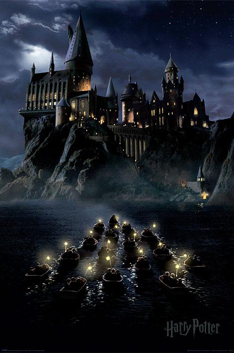 Harry Potter: Hogwarts Boats Portrait Poster