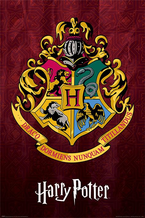 Harry Potter: Hogwarts School Crest Portrait Poster