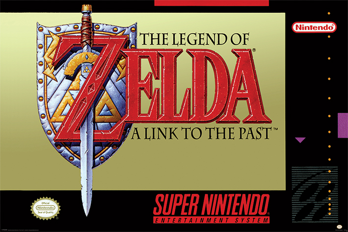 Super Nintendo: Zelda Landscape Poster