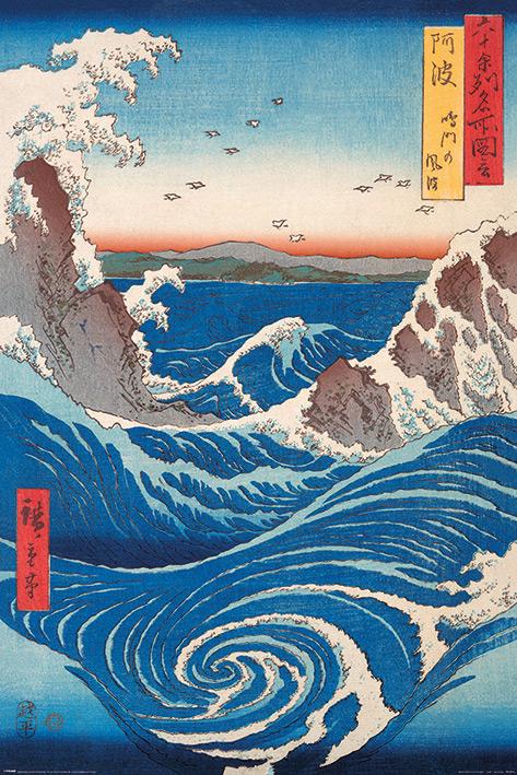 Hiroshige: Naruto Whirlpool Portrait Poster