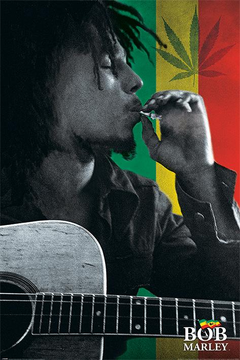 Bob Marley: Smoke Portrait Poster
