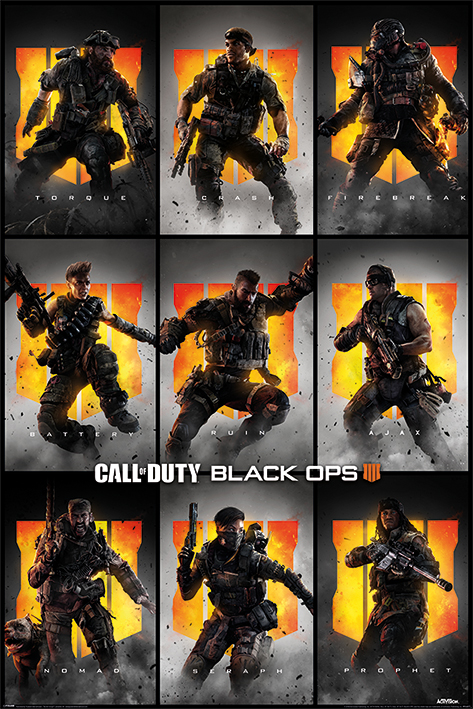 Call of Duty: Black Ops 4: Characters Portrait Poster
