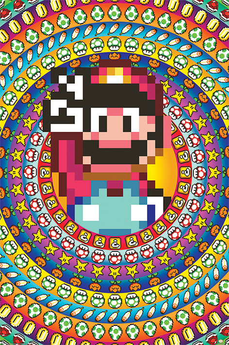 Super Mario: Power Ups Portrait Poster