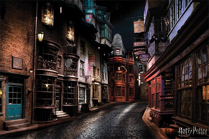 Harry Potter: Diagon Alley Landscape Poster
