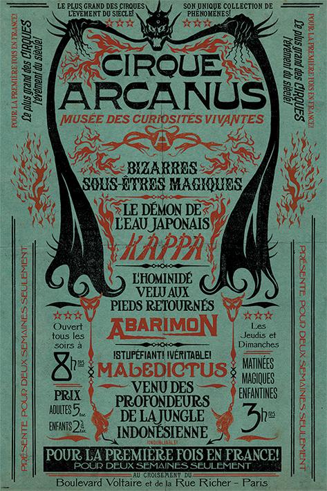 Fantastic Beasts The Crimes Of Grindelwald: Le Cirque Arcanus Portrait Poster