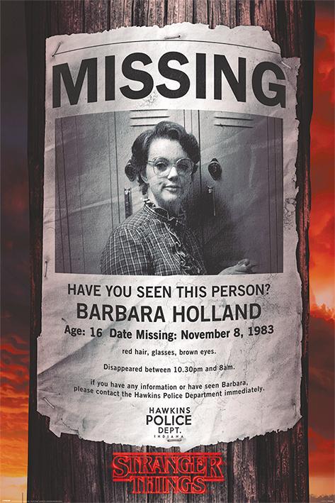 Stranger Things: Missing Barb Portrait Poster