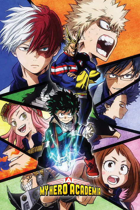 My Hero Academia: Characters Mosaic Portrait Poster