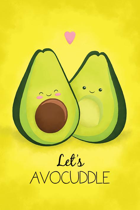 Avocado: Let's Avocuddle Portrait Poster