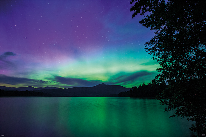 BBC Earth: Northern Lights Landscape Poster