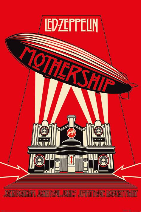 Led Zeppelin: Mothership Red Portrait Poster