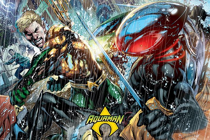 Aquaman: Atlantean Punch Landscape Poster