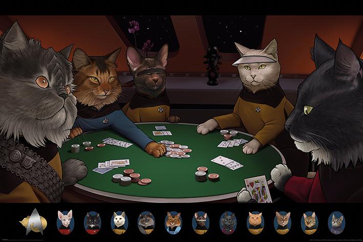 Star Trek Cats: Poker Landscape Poster