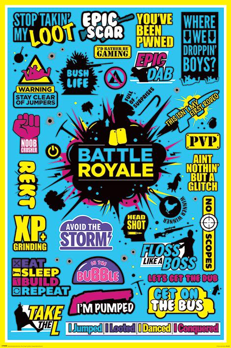 Battle Royale: Infographic Portrait Poster
