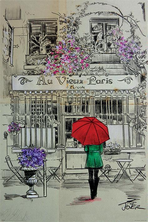 Loui Jover: Au Vieux Paris Portrait Poster