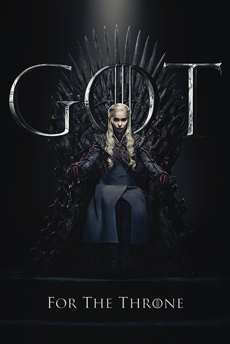 Game of Thrones: Daenerys For The Throne Portrait Poster