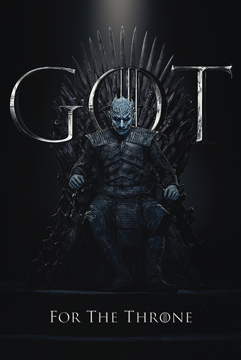 Game of Thrones: The Night King For The Throne Portrait Poster
