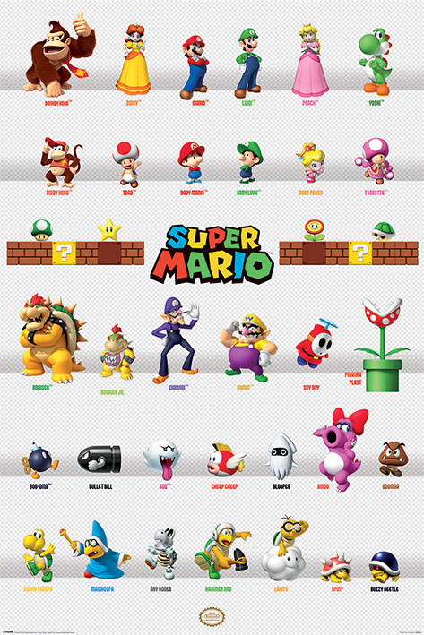 Super Mario: Character Parade Portrait Poster