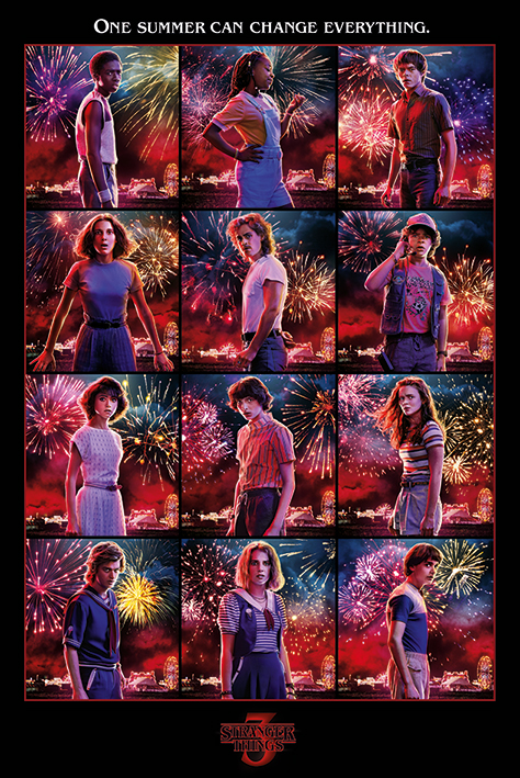 Stranger Things: Character Montage Portrait Poster