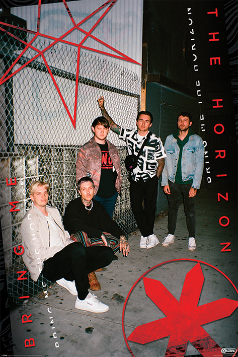 Bring Me The Horizon: Red Eye Portrait Poster
