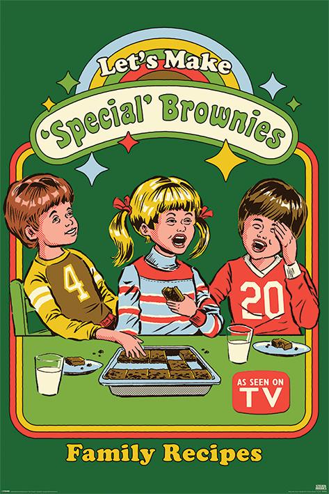 Steven Rhodes: Let's Make Special Brownies Portrait Poster