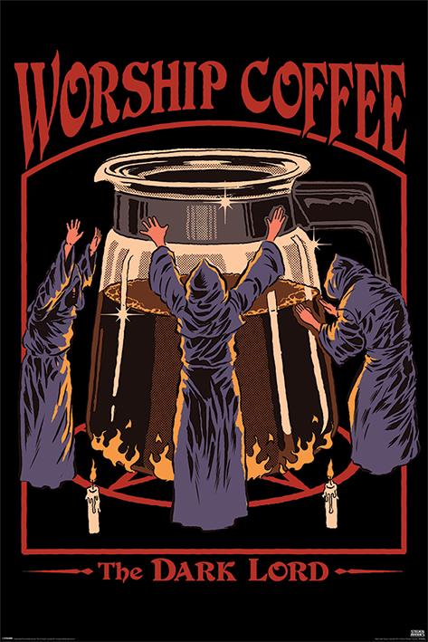 Steven Rhodes: Worship Coffee Portrait Poster