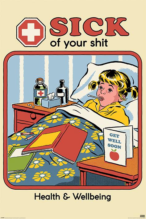 Steven Rhodes: Sick Portrait Poster